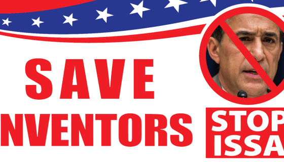 STOP ISSA – Protect Small Inventors!