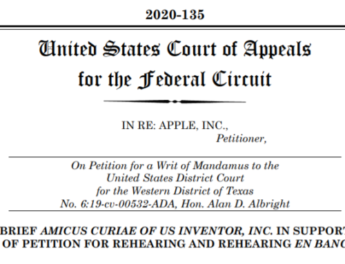 US Inventor Files Amicus Brief in Apple Venue Case