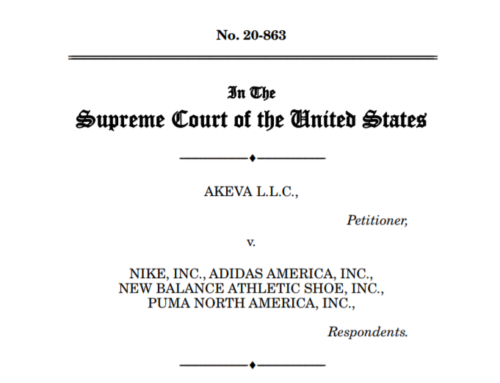 US Inventor Files Amicus Brief in Supreme Court Case Akeva v. Nike